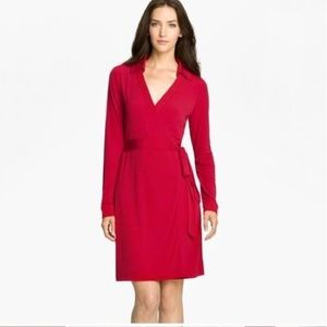 Calvin Klein Red wrap dress size 14